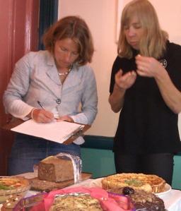 Rachael & Claire judging 2